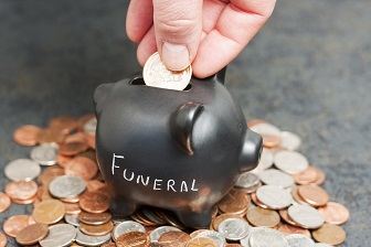 Funeral Piggy Bank on Coins
